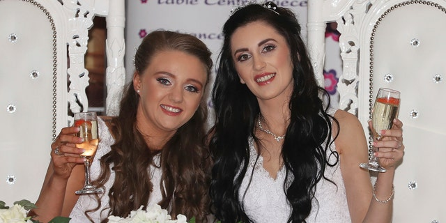 Northern Ireland couple make history as region's first same-sex marriage