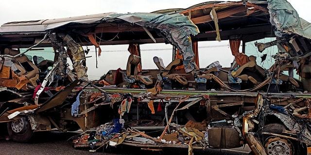 Westlake Legal Group AP20051158972036 Head-on bus-truck collision in India kills at least 19 fox-news/world/world-regions/india fox-news/world/disasters/transportation fnc/world fnc Associated Press article a0384f77-7231-5bf5-8136-d7b7c2c50f2d