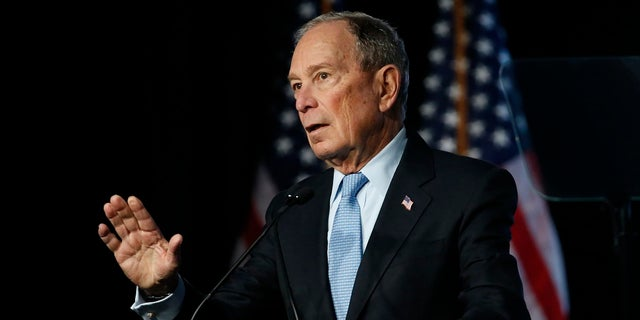 Democratic presidential candidate and former New York City Mayor Mike Bloomberg speaks during a campaign event in Salt Lake City last week. (AP Photo/Rick Bowmer)