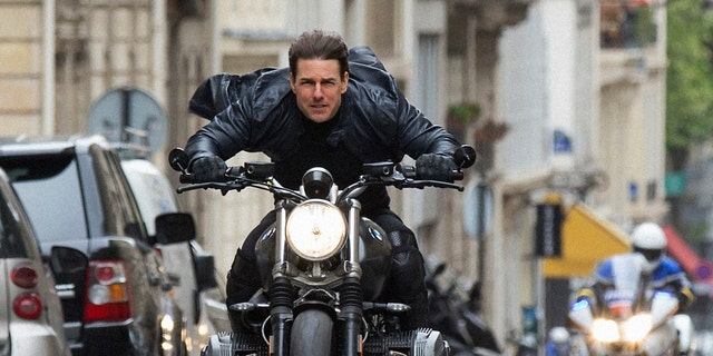 "This image released by Paramount Pictures shows Tom Cruise in a scene from ""Mission: Impossible - Fallout,"" the sixth film in the Mission Impossible franchise."