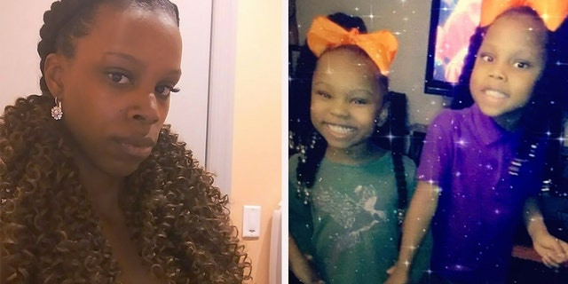 Amarah Banks, left, and her daughters, Camaria, center, and Zaniya, were found dead Sunday.