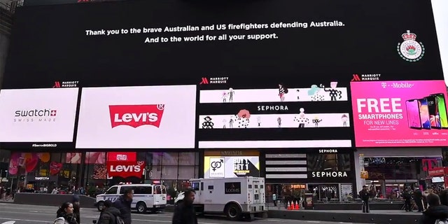 A thank you message to American firefighters and volunteers who helped battle the wildfires in Australia this year.