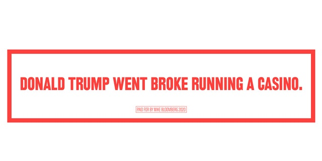 A billboard being purchased near Trump campaign stops in Arizona and Nevada, provided to Fox News by the Bloomberg campaign.