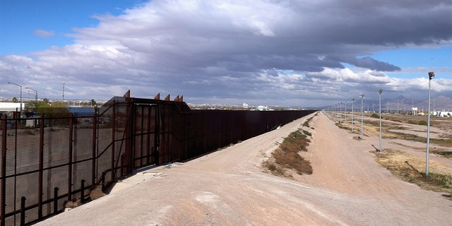 The Juarez Mexico side of the International Border crossing with El Paso, Texas.