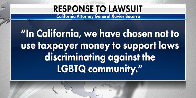 California Attorney General responds to lawsuit from Texas.