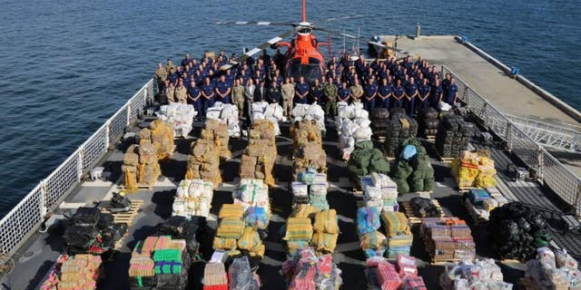 The Coast Guard cutter James seized hundreds of millions of dollars worth of drugs last year.