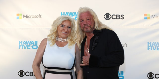 "Beth Chapman and Duane Chapman attend the Sunset on the Beach event celebrating season 8 of ""Hawaii Five-0"" at Queen's Surf Beach on November 10, 2017 in Waikiki, Hawaii."