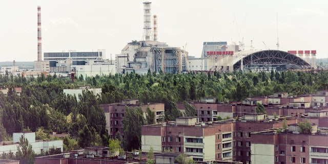 Chernobyl nuclear power station and Pripyat