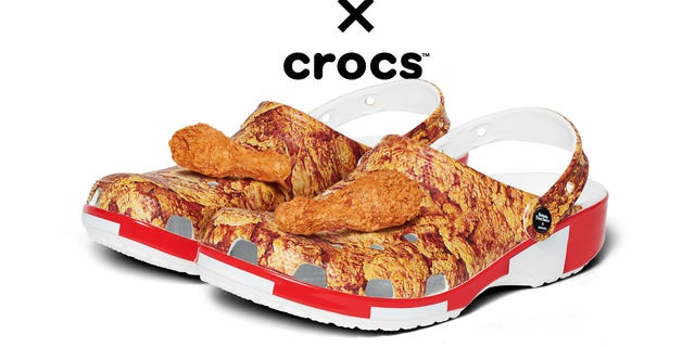 KFC partnered with Crocs to introduce the Bucket Clog, which comes in two versions and is available this Spring.