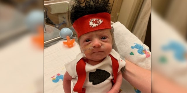 """""""Cheers to the Chiefs fighting hard Sunday like these beautiful babies do each day!!"""" a Facebook user commented."""