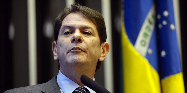 Brazilian Minister of Education Cid Gomes delivers a speech in the chamber of deputies in Brasilia on March 18, 2015.
