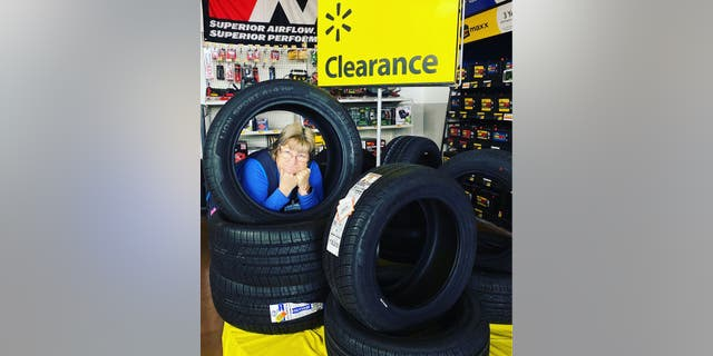 The North East, Md., Walmart employee has gone viral for her delightfully grumpy demeanor while showing off different products available at the big box chain.