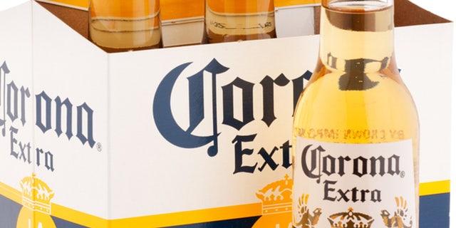 Bottles of Mexican beer Corona.