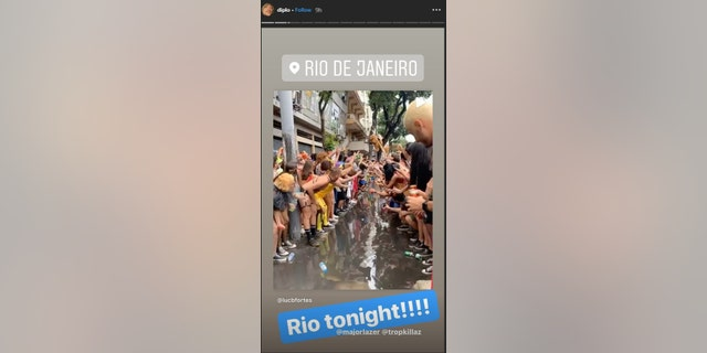 DJ Diplo confirmed that his show in Rio de Janiero was still on for Wednesday night after a shooting occurred during his Tuesday performance.