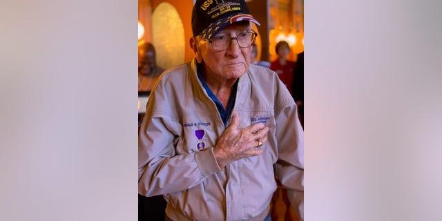 Pearl Harbor survivorDonald Stratton, seen here in a recent photo, died Saturday.