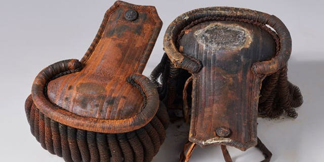 The pair of epaulets recovered from the wreck of the HMS Erebus. Experts think that the epaulets belong to James Walter Fairholme, a 3rd lieutenant on HMS Erebus. (Parks Canada)