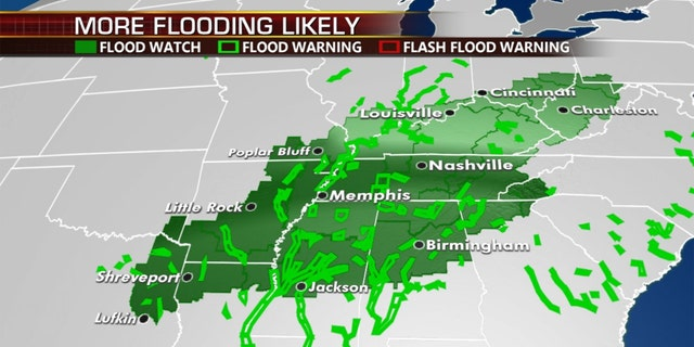 The threat for flooding continues across the South on Wednesday.