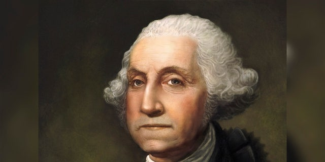 """""""George Washington Portrait. Original digital painting by Joe Cicak of America's founding father and first president, George Washington. Image created in Photoshop using digital brushes to simulate classic 18th century portrait styles. No scratches, cracks or other mars from age. Looks like a portrait that was just painted.This painting has a full release.See also my illustration of Ben Franklin."""""""