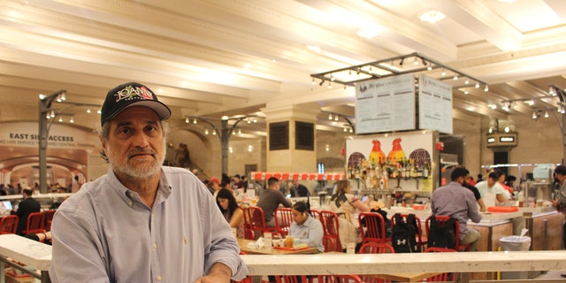 "Lady Gaga's father, Joe Germanotta stands in the restaurant ""Art Bird & Whiskey Bar"" at Grand Central Station on Sept. 13, 2018, in New York City."