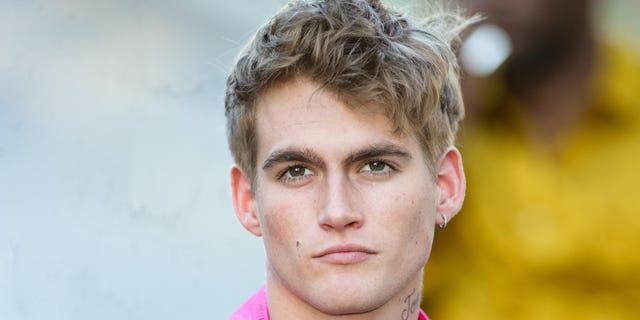 Presley Gerber shot back at critics of his new face tattoo on social media.