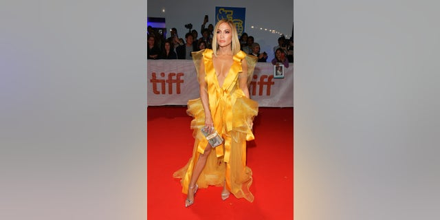"""Jennifer Lopez at the """"Hustlers"""" premiere during the 2019 Toronto International Film Festival. (Photo by George Pimentel/Getty Images for TIFF)"""