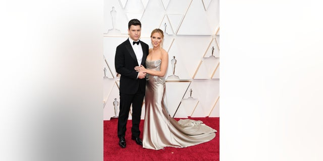 Westlake Legal Group GettyImages-1205143539 Oscars 2020: Scarlett Johansson and Colin Jost walk red carpet together Jessica Napoli fox-news/person/scarlett-johansson fox-news/entertainment/events/oscars fox-news/entertainment/events/couples fox news fnc/entertainment fnc article 8e759f7e-e033-5d09-b124-3c5fe9f5d93b