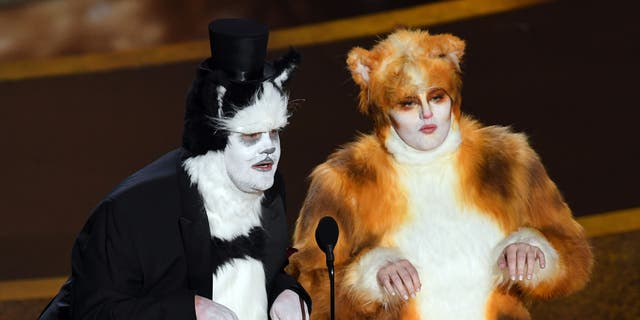 Westlake Legal Group GettyImages-1205167804 Oscars 2020: James Corden, Rebel Wilson bring 'Cats' to the Academy Awards Nate Day fox-news/entertainment/movies fox-news/entertainment/events/oscars fox-news/entertainment/celebrity-news fox-news/entertainment fox news fnc/entertainment fnc article 9910633b-248e-5ec6-a16b-5d968a254ef7