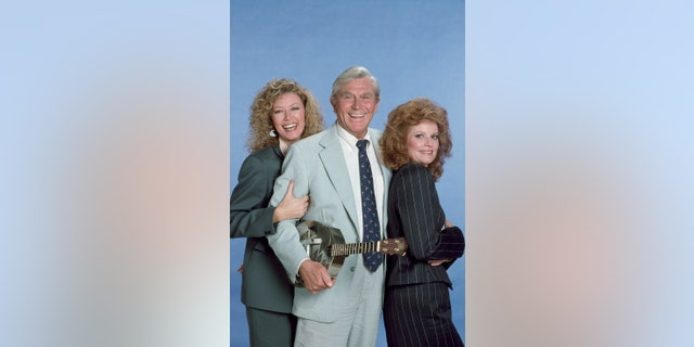Pictured: (l-r) Nancy Stafford as Atty. Michelle Thomas, Andy Griffith as Ben Matlock, Julie Sommars as A.D.A. Julie March.