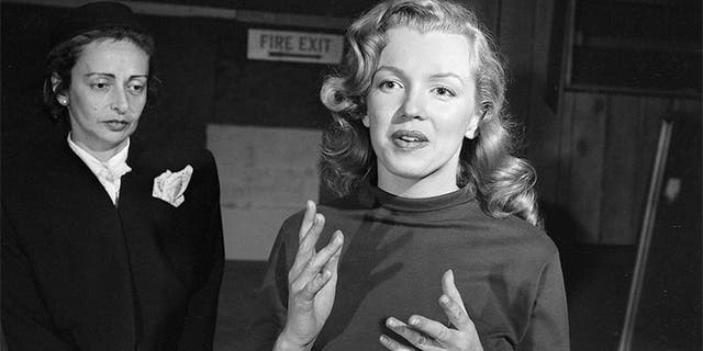 Marilyn Monroe during a lesson with acting teacher Natasha Lytess in Hollywood, Calif., November 1948.