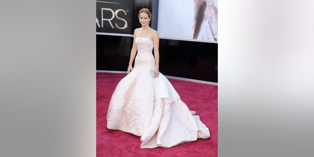 Jennifer Lawrence arrives at the Oscars at Hollywood & Highland Center on Feb. 24, 2013 in Hollywood, California.
