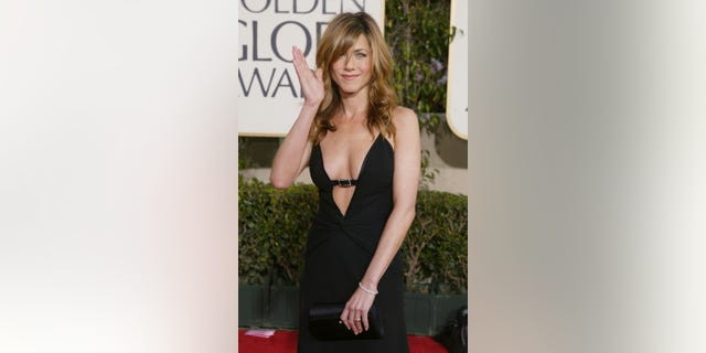Jennifer Aniston attends the 61st Annual Golden Globe Awards at the Beverly Hilton Hotel on January 25, 2004, in Beverly Hills, Calif.