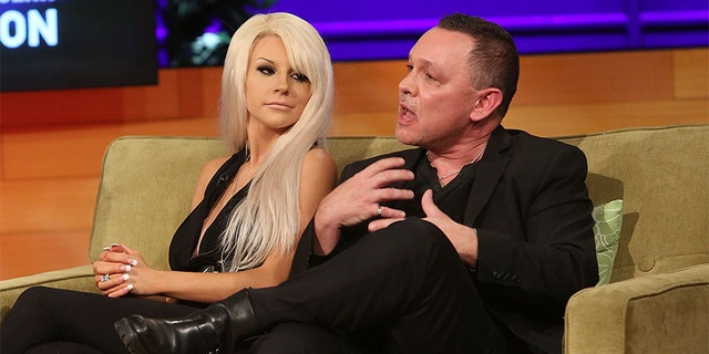 "TV personalities Courtney Stodden and Doug Hutchison attend the VH1 'Couples Therapy"" With Dr. Jenn Reunion at GMT Studios on August 8, 2014, in Culver City, California."