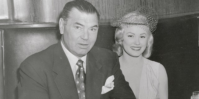 Jack Dempsey with Mamie Van Doren.