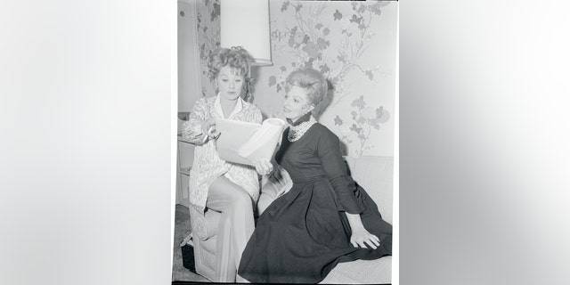 Lucille Ball (left) and Carole Cook.
