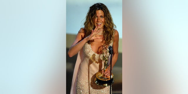 Westlake Legal Group GettyImages-563570991 Jennifer Aniston turns 51: A look back at her biggest moments Nate Day fox-news/topic/celebrity-birthdays fox-news/person/jennifer-aniston fox-news/person/brad-pitt fox-news/entertainment/tv fox-news/entertainment/movies fox-news/entertainment/friends fox-news/entertainment/events/couples fox-news/entertainment/celebrity-news fox-news/entertainment fox news fnc/entertainment fnc article 3a8b507d-4d4a-5f3f-a845-ed0466492132