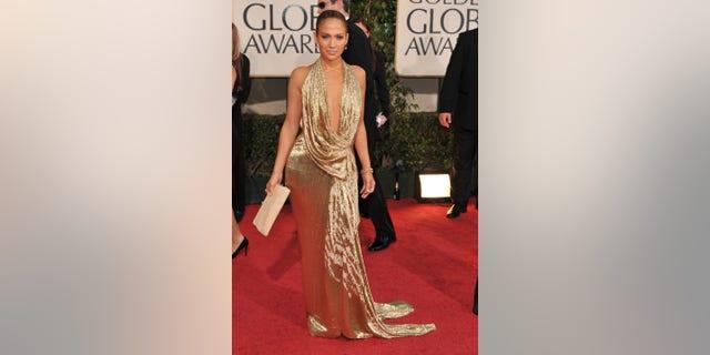 Jennifer Lopez at the Golden Globe Awards in 2009. (Photo by Steve Granitz/WireImage via Getty)