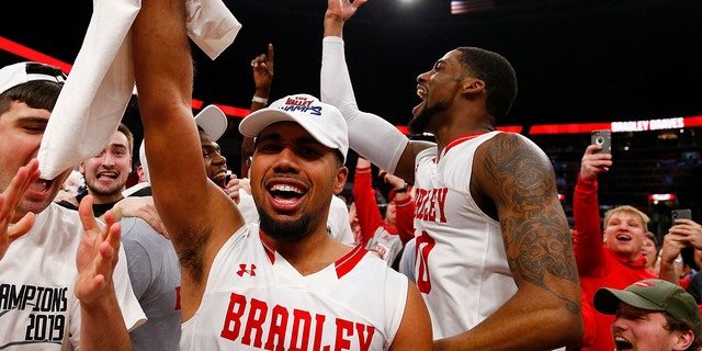 Bradley beat Northern Iowa for the MVC title in 2019. (Photo by Dilip Vishwanat/Getty Images)