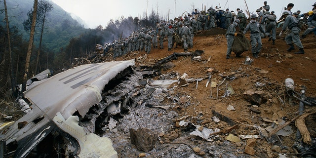 The Japan Airlines Flight 123 crash site outside of Tokyo.