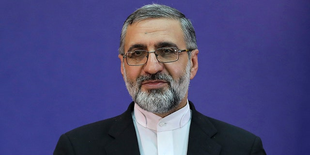 Iran's Judiciary spokesman Gholamhossein Esmaili gives a press conference in Tehran, Iran, on Tuesday.