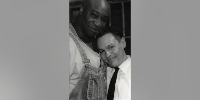 Doug Hutchison with his 'Green Mile' co-star Michael Clarke Duncan.