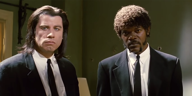 John Travolta earned his second Academy Award nomination for 'Pulp Fiction.'