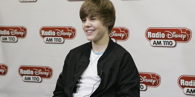 Justin Bieber at a concert hosted by Radio Disney on Dec. 14, 2009.