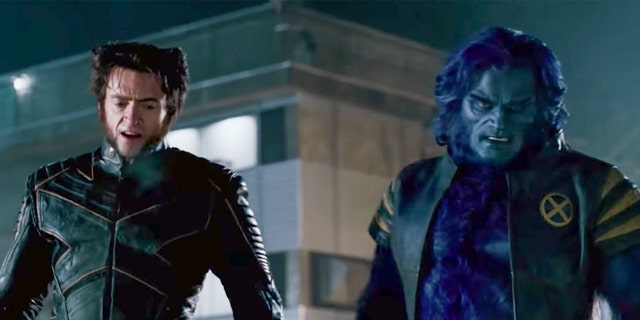 """Hugh Jackman (left) and Kelsey Grammer (right) in """"X-Men: The Last Stand."""""""