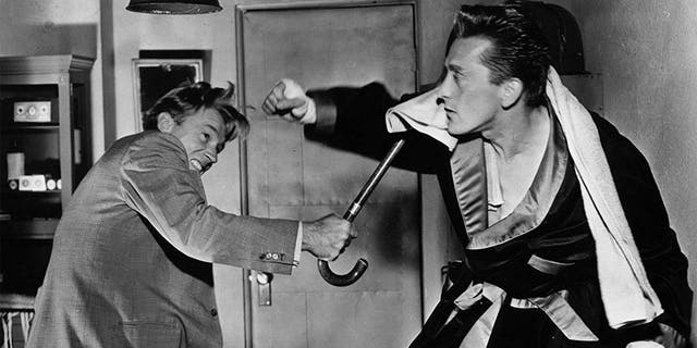 Kirk Douglas and Arthur Kennedy in 'Champion' (1949).
