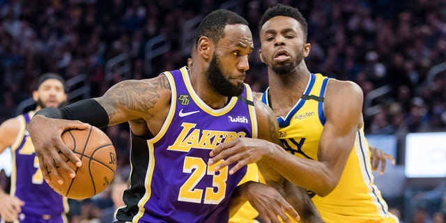 Los Angeles Lakers forward LeBron James was one of the leading vote-getters for the All-Star Game. (AP Photo/John Hefti)