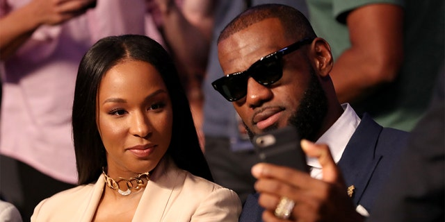 NBA player Lebron James and wife Savannah wed in 2013.
