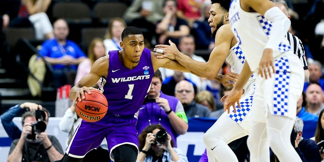 Jaren Lewis and Abilene Christian won their first Southland title in 2019. (Photo by Matt Marriott/NCAA Photos via Getty Images)