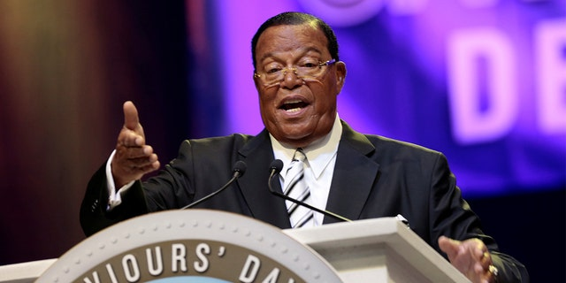 Religious leader Louis Farrakhan gives the keynote speech at the Nation of Islam Saviours' Day convention in Detroit, Michigan, U.S. February 19, 2017.