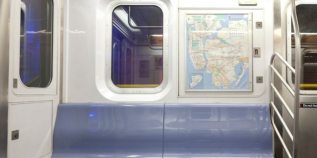 In a tweet on Friday, journalist Pervaiz Shallwani shared a photo from onboard an MTA subway car when ketchup randomly all over the floor. (Photo: iStock)