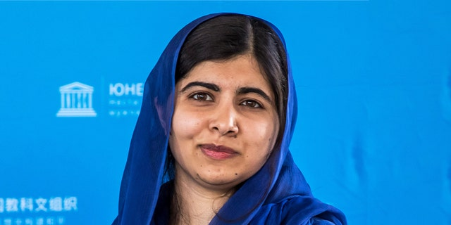 Nobel Peace Prize laureate Malala Yousafzai poses for photographs during the Education and Development G7 Ministers Summit in Paris, France.
